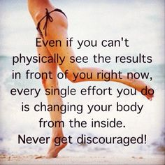 Fitspiration for those discouraging moments! Just let them pass, never give up.