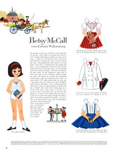 Betsy McCall Paper Dolls 1960 Jan-Apr