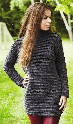 Interesting warm tunic crochet. Russian site - use Google Chrome to translate.