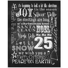Christmas Subway Art Chalkboard Printable from Printable Decor