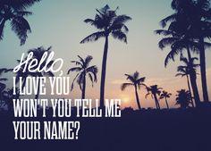 """Carte postale """"Hello I love you"""""""
