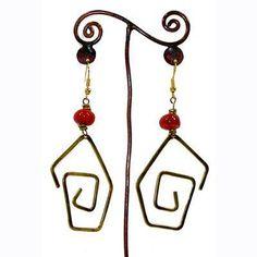 Hammered Brass Earrings Handmade by #FairTrade artisans  #Earrings #Valentines #Gift