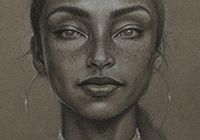 ''The moon & the sky'' - Sara Golish Celebrity Drawings, Elements Of Art, Meatball, Art Portfolio, Drawing Tips, Black Art, Bellisima, Art Images, Cool Words