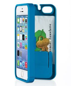 Look at this #zulilyfind! Blue Storage Phone Case for iPhone 5c by eyn #zulilyfinds