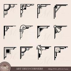 Here you find the best free Art Deco Arrow Clipart collection. You can use these free Art Deco Arrow Clipart for your websites, documents or presentations. Arte Art Deco, Moda Art Deco, Estilo Art Deco, Corner Deco, Muebles Art Deco, Branch Art, Art Deco Stil, Photo Album Scrapbooking, Digital Scrapbooking