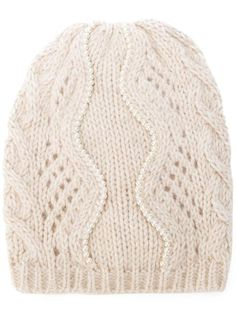 ERMANNO SCERVINO embellished knit beanie. #ermannoscervino #镶嵌针织套头帽