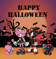 Shadow and Amy Halloween by Lunatic-Stars-10