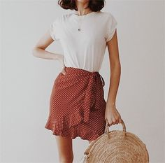 Spring outfit - Summer looks - Saias Mode Outfits, Skirt Outfits, Casual Outfits, Fashion Outfits, Fasion, Casual Ootd, Casual Dressy, Fashion Ideas, Fashion Tips