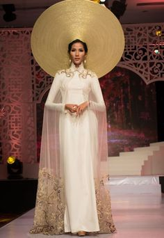 "Traditional Vietnamese Dress ""Ao Dai,"" beautiful for Vietnamese wedding attire."