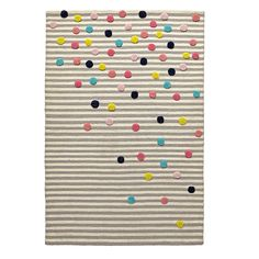 Sprinkles make everything that much better. Even striped rugs. Made of 100% wool, the grey and white stripes on this rug get a dash of color from everybody's favorite food group. Yes, sprinkles are a food group.<br /><br /><NEWTAG/><ul><li>Nod exclusive</li><li>Combination of cut and loop construction</li><li>High/low construction</li><li>Pile Height: 11mm cut, 7mm loop</li><li>Swatches available</li><li>Made in India</li></ul><h2>Show 'em what you're made of</h2><li>Pile 100% wool, back…