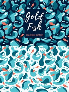 Gold Fish Pattern. Textures. $2.00