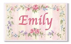 Personalized Wall Plaque, Home Decor, Pink Stripe. $36.95 + Free Shipping.
