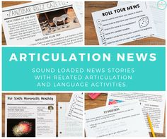 Articulation News -