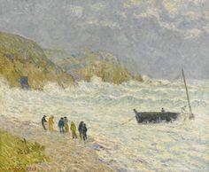 Boat Shore, Morgat, November 1902   -   Maxime Maufra,  1903. French,   1861 - 1918