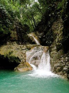 We're not tired yet! Time to explore the Damajaqua Cascades in Puerto Plata, Dominican Republic.