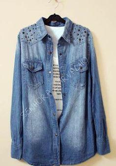 Camisa Jeans Feminina - Frete Incluso - Sc002