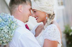 Kayla + Michael #wedding #bride #groom #weddingphotos #lace #bouquets