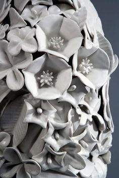 Ceramic Pots, Ceramic Flowers, Cold Porcelain, Ceramic Artists, Surface Design, Cement, Modeling, Projects To Try, Pottery
