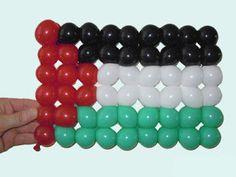 Palestine Flag Balloon Twisting