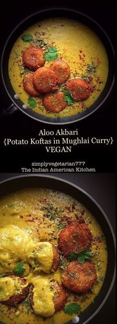 Aloo Akbari {Potato Kofta in Vegan Mughlai Curry} - Delicious Vegan Mughlai Curry Aloo Akbari {Potatao Kofta in Vegan Mughlai Curry} is the Rich Indian ROYAL CURRY fit for the kings. The best part is that it is vegan and has been tried and tested by many. Veg Recipes, Curry Recipes, Indian Food Recipes, Whole Food Recipes, Cooking Recipes, Healthy Recipes, Indian Vegetarian Recipes, Cooking Tips, Recipies