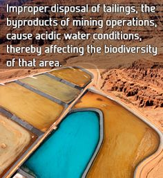 Effect of mining on environment