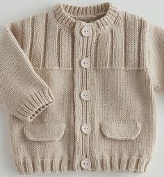 39 most showy towel edge needlework models - Babykleidung Baby Knitting Patterns, Baby Sweater Patterns, Baby Boy Knitting, Knit Baby Sweaters, Knitted Baby Clothes, Knitting For Kids, Knitting Designs, Baby Patterns, Knitting Wool
