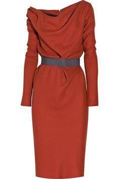 Wool - Crepe Shift Dress by Victoria Beckham