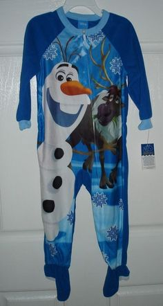 toddler boys #disney frozen olaf & sven fleece footed sleeper (3t) - nwt! from $5.95