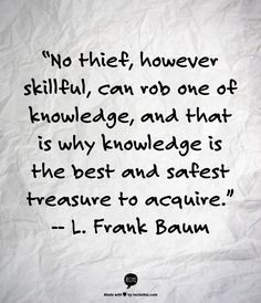 """Wise words from L. Frank Baum, of The Wonderful Wizard of Oz, in honor of his birthday. Wizard Of Oz Quotes, Wizard Of Oz Book, Writing Quotes, Book Quotes, Me Quotes, Library Quotes, Wall Quotes, The Words, Knowledge And Wisdom"