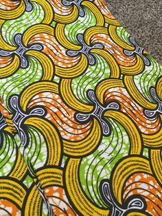 African wax block print fabric   via Etsy: AfricanPrintFabric