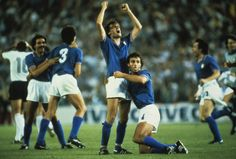Marco Tardelli celebrating after the final whistle of the 1982 World Cup Final