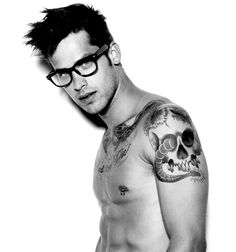 Dark Framed Glasses, Tattos and Nipple Rings . Which do you like best? ;)