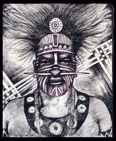 Torres Strait Island Chieftan by Ropati Leaso-Cobb on ARTwanted Aboriginal Culture, Aboriginal People, Melanesian People, Jungle Art, Australian Continent, Tonga, Vanuatu, People Of The World, Papua New Guinea
