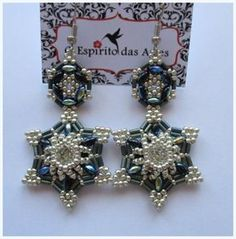 How to make 6-point star around chanton earrings- video ~Seed Bead Tutorials