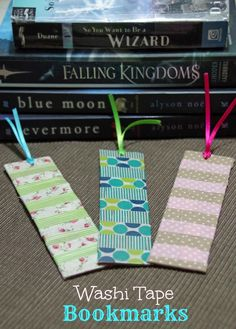 Need something pretty to mark your place? Try this Washi tape bookmark craft!