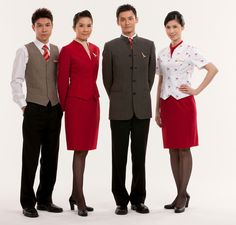 2011 - Current  The new uniform, once again created by renowned Hong Kong designer Eddie Lau, continues the tradition of creating a stylish, elegant and unique look that's symbolic of a modern Asian Airline respected worldwide for quality, style and gracious service.   #cathaypacificwalkingonair
