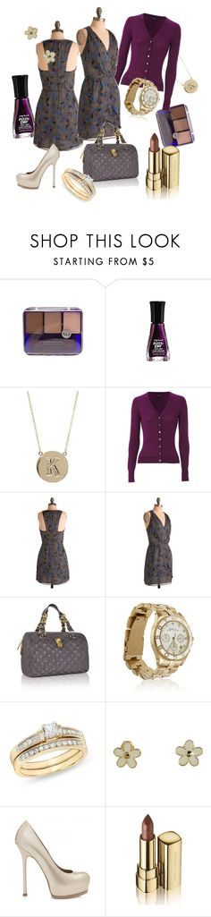 """Dark Romance"" by atangleofthorns ❤ liked on Polyvore featuring ULTA, Jennifer Meyer Jewelry, Hobbs, Marc Jacobs, Marc by Marc Jacobs, Ice, Yves Saint Laurent and Dolce&Gabbana"