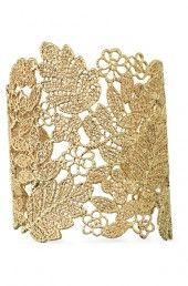 DIY??? Chantilly Lace Cuff- no for sure instructions, but I'm thinkin u could make that as a bracelet. A lil lace, a lil fabric stiffener, and some spray paint or fabric paint??? Let me know what u think DIY'ers ;-)