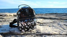 OOTD sequin backpack ♥ Sequin Backpack, Fashion Backpack, Sequins, Ootd, Backpacks, Outfit, Bags, Vertical Bar, Outfits