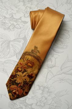 Floral necktie for woman by tiestory
