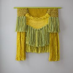 Weaving  Hand Woven Textile Wall Hanging in by SmoothHillsWeaving