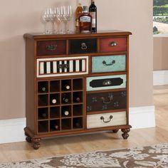 Credenza with 16 Bottle Wine Storage
