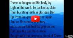 This song should be every Christian's proclamation! A beautiful song of worship accompanied by lyrics and photo montage.