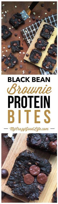 Black Bean Brownie Protein Bites