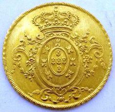 Moeda de Ouro Dom João VI, 6.400 RÉIS DE 1805 DO RIO DE..: