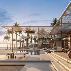 beach hotel The soon-to-open Amanvari on the East Cape of Mexicos Baja Peninsula. Beach Hotels, Beach Resorts, Hotels And Resorts, Soho Beach House, Desert Resort, Beach Cafe, Beach Villa, Villa Design, Boutique Hotels