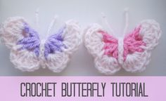 [Video Tutorial] Spread Love With The Easiest And Cutest Crochet Butterflies Ever! - Knit And Crochet Daily
