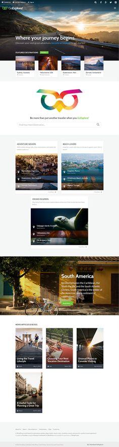 Travel WordPress Theme – GoExplore! #html5wordpressthemes #responsivewordpressthemes #wordpressthemes