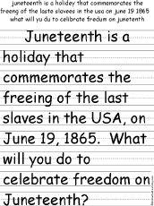 (June 19th)Juneteenth, explain to kids