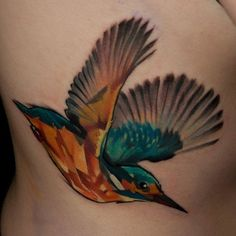 Halasz Matyas's Geometric Animal Tattoos Are Setting The Standard - Geometric Hummingbird Tattoo Aa Tattoos, Body Art Tattoos, Tatoos, Pretty Flower Tattoos, Gorgeous Tattoos, Geometric Hummingbird Tattoo, Kingfisher Tattoo, Dark Art Tattoo, Tattoo Zeichnungen